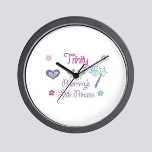 Trinity - Mommy's Little Prin Wall Clock