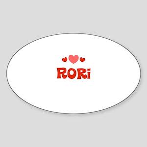 Rori Oval Sticker