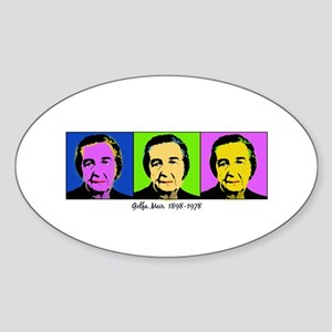 golda andy warhol Oval Sticker