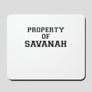 Property of SAVANAH Mousepad
