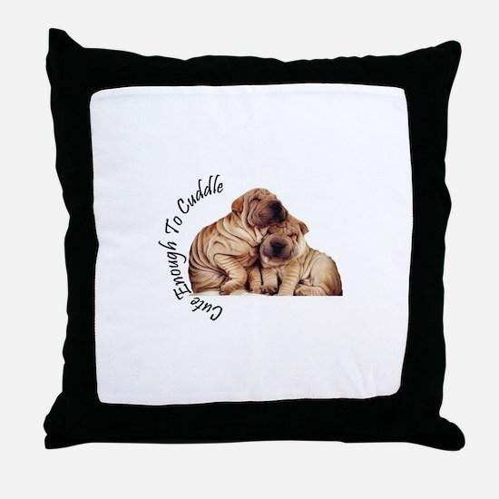 Cute Sharpei Throw Pillow