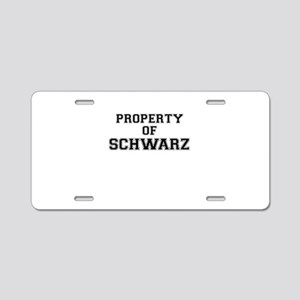 Property of SCHWARZ Aluminum License Plate