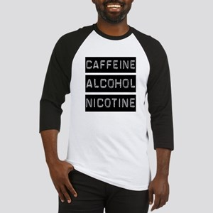 Caffeine, Alcohol, Tobacco Baseball Jersey
