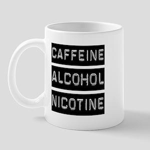Caffeine, Alcohol, Tobacco Mug