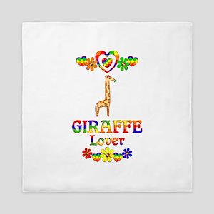 Giraffe Lover Queen Duvet