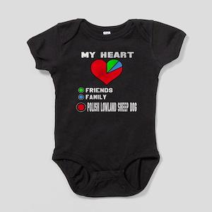 My Heart, Friend, Family Polish Lowl Baby Bodysuit
