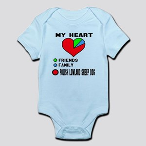 My Heart, Friend, Family Polis Baby Light Bodysuit