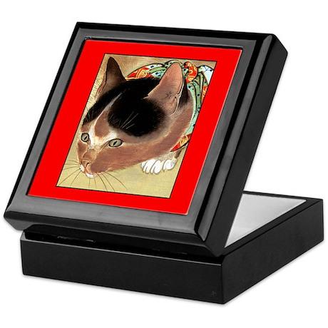 CURIOUS KITTY CAT Keepsake Box