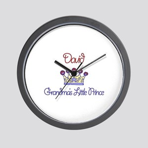 David - Grandma's Little Prin Wall Clock