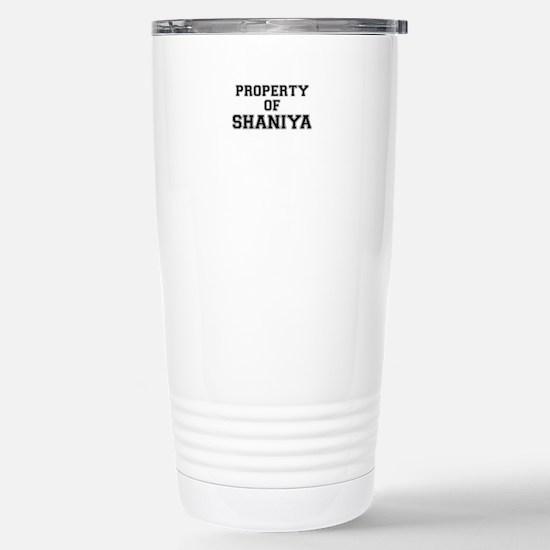 Property of SHANIYA Stainless Steel Travel Mug