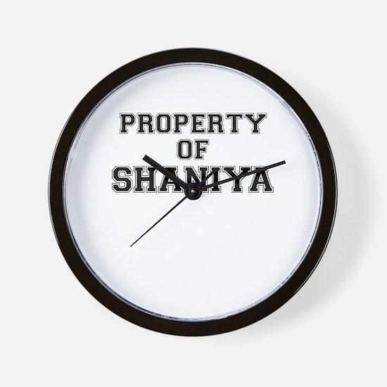 Property of SHANIYA Wall Clock