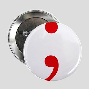 """Semicolon 2.25"""" Button (10 pack)"""
