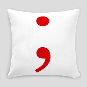 Semicolon Everyday Pillow