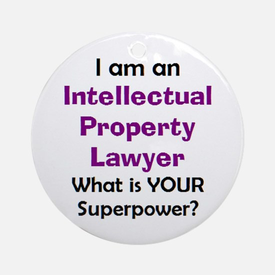 intellectual property lawyer Round Ornament
