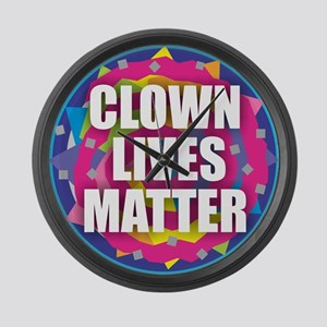 Clown Lives Large Wall Clock