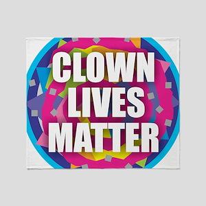 Clown Lives Throw Blanket