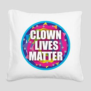 Clown Lives Square Canvas Pillow