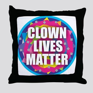 Clown Lives Throw Pillow