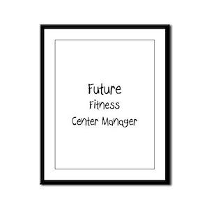 Future Fitness Center Manager Framed Panel Print