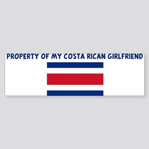 PROPERTY OF MY COSTA RICAN GI Bumper Sticker