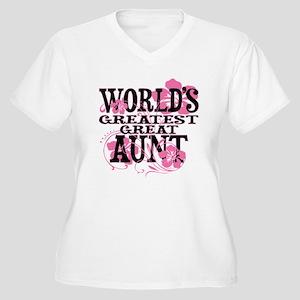 Great Aunt Women's Plus Size V-Neck T-Shirt