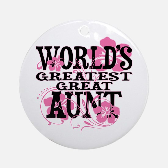 Great Aunt Round Ornament