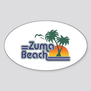 Zuma Beach CA Sticker (Oval)