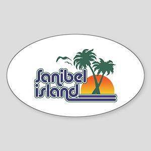 Sanibel Island Sticker (Oval)