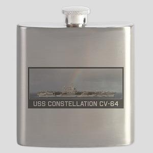 USS Constellation CV-64 Flask