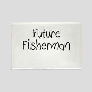 Future Fisherman Rectangle Magnet