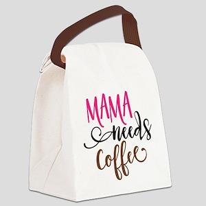 MAMA NEEDS COFFEE Canvas Lunch Bag