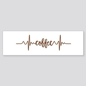 COFFEE HEARTBEAT Bumper Sticker