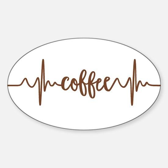 COFFEE HEARTBEAT Decal