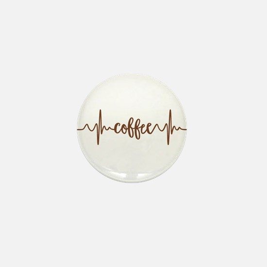 COFFEE HEARTBEAT Mini Button