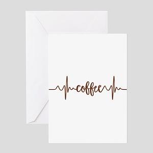 COFFEE HEARTBEAT Greeting Cards