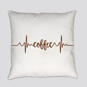 COFFEE HEARTBEAT Everyday Pillow