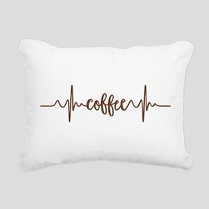COFFEE HEARTBEAT Rectangular Canvas Pillow