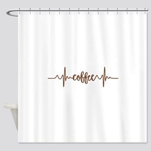 COFFEE HEARTBEAT Shower Curtain