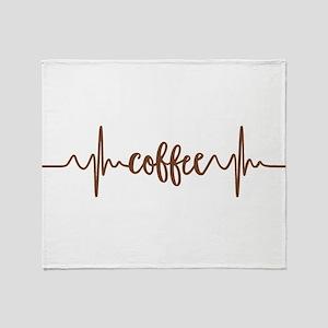 COFFEE HEARTBEAT Throw Blanket