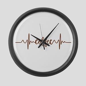 COFFEE HEARTBEAT Large Wall Clock