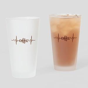 COFFEE HEARTBEAT Drinking Glass
