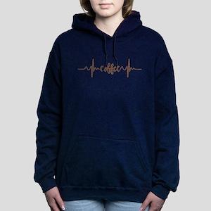 COFFEE HEARTBEAT Women's Hooded Sweatshirt