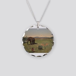 Life on Earth, man's here. Necklace Circle Charm