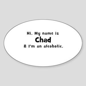Chad Oval Sticker
