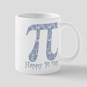 Chambray Swirls Pi Day Stainless Steel Travel Mugs