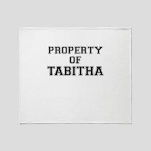 Property of TABITHA Throw Blanket