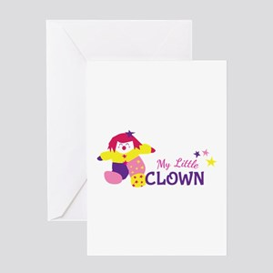 My Little Clown Greeting Cards