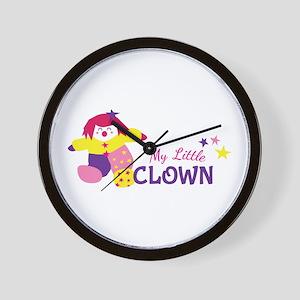 My Little Clown Wall Clock