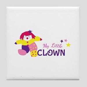 My Little Clown Tile Coaster