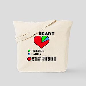 My Heart, Friend, Family Petit Basset Gri Tote Bag